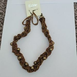 Womens necklace and earrings